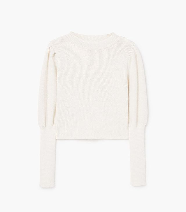 Mango Cropped Cotton-Blend Sweater