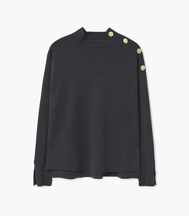 Mango Contrast Buttoned Sweater
