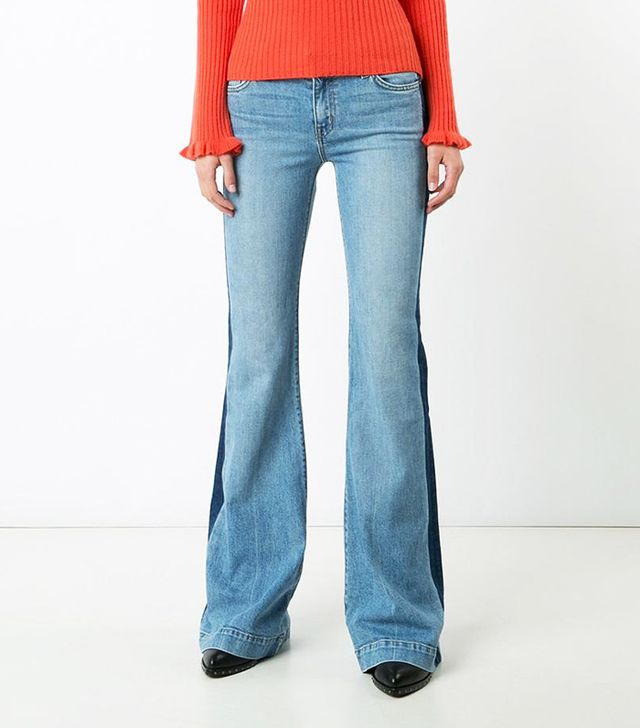 Derek Lam 10 Crosby Side Stripe Flared Jeans