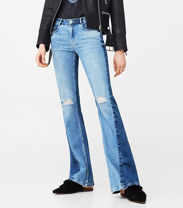 Mango Flared Twotones Jeans