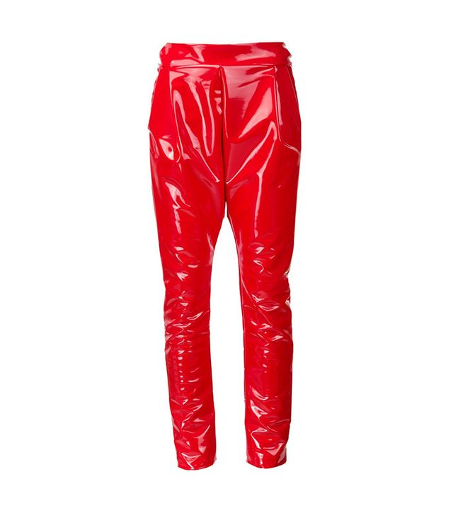 Les Animaux Vinyl Slim Fit Trousers