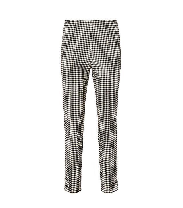 Veronica Beard Gingham High Waist Trousers