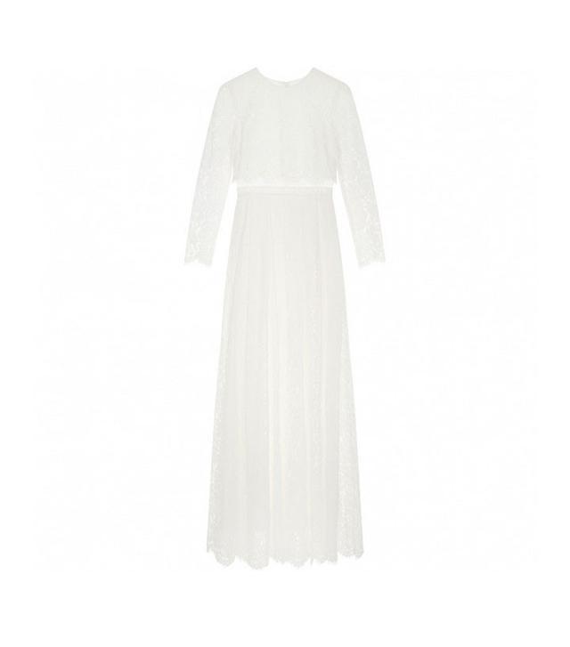 ASOS Curve Bridal Lace Long Sleeve Maxi Dress