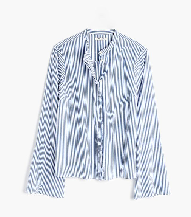 Madewell Bell-Sleeve Shirt in Stripe