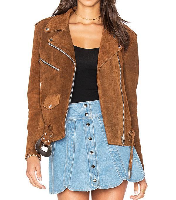 Understated Leather Moto Jacket