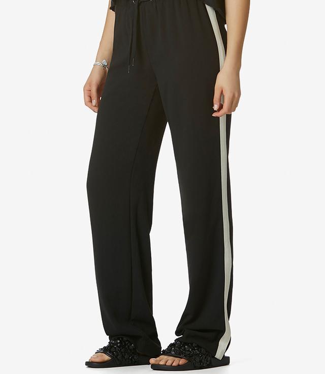 Avec Les Filles Side-Stripe Jogger Pants