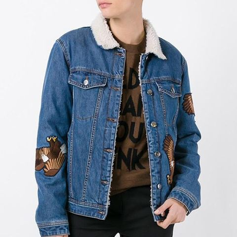 Eagle Appliqué Denim Jacket