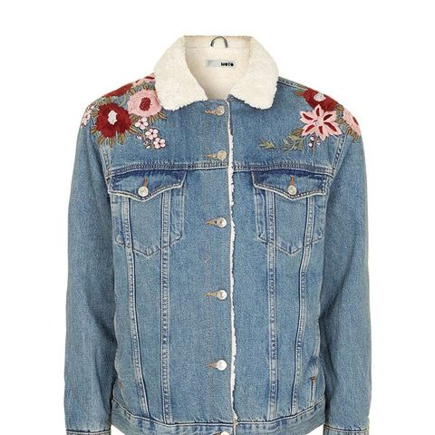 Embroidered Western Denim Jacket