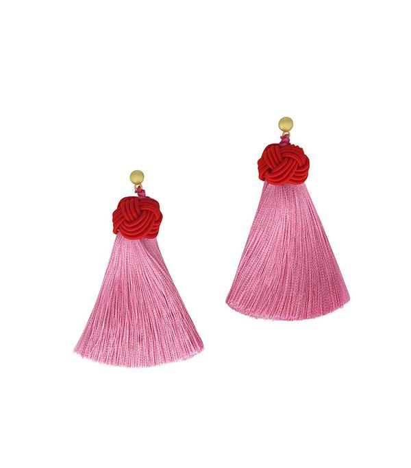 Hart Cherry Top & Peony Pink Tassel Topknots