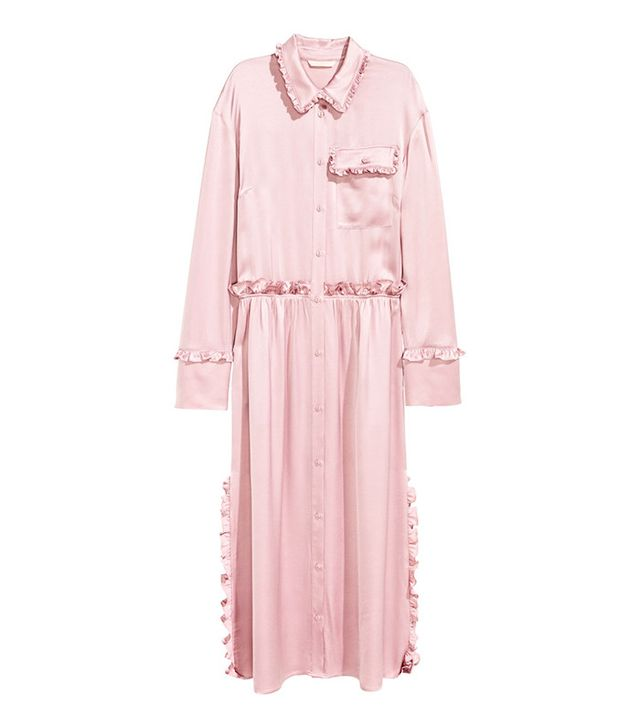 H&M Shirt Dress with Ruffles