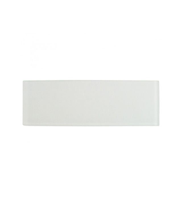 Tile Bar Loft Super White Frosted Glass Tile Sample