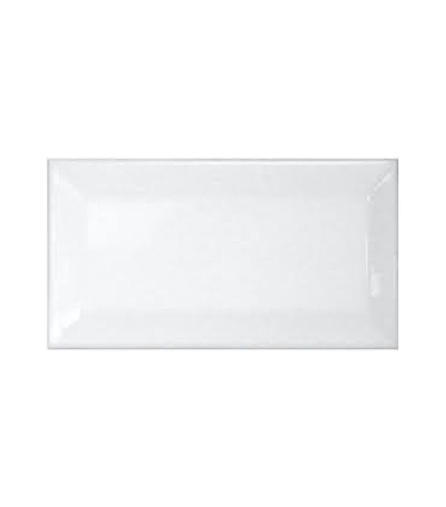 Bridgewater Beveled Subway Whisper White Gloss Ceramic Tile