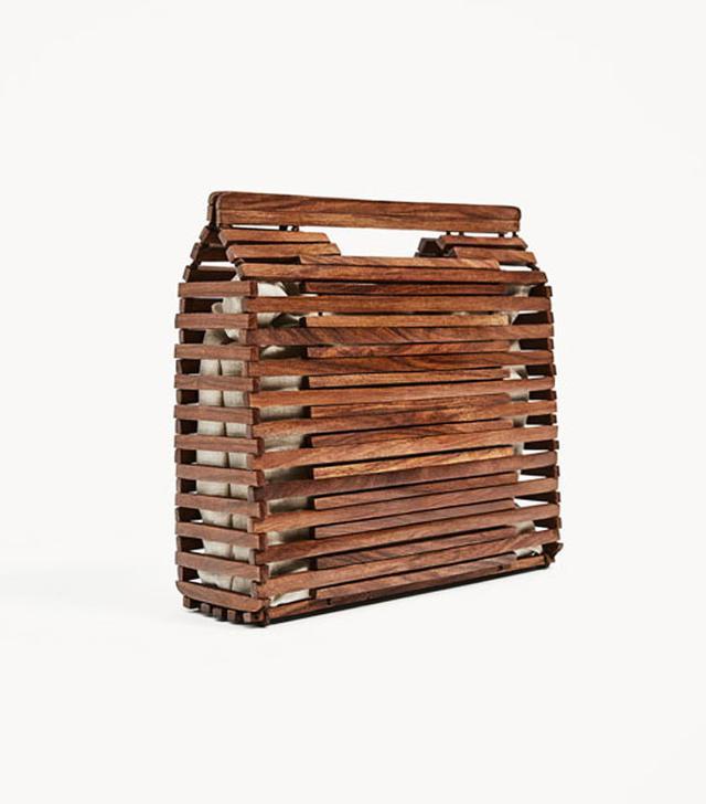 Zara wooden tote bag