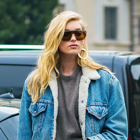 Denim Trends 2017: Shearling denim jacket