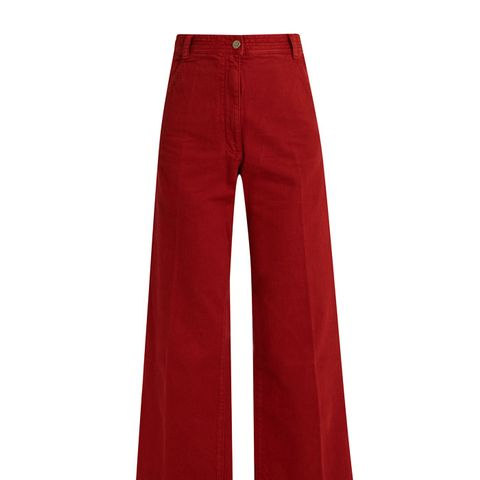 Bishop High-Rise Wide-Leg Cotton Trousers