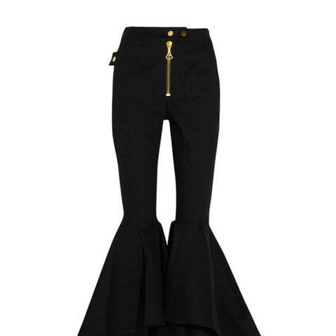 Alejandro Cropped High-Rise Flared Jeans