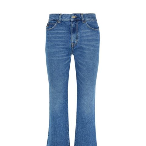 Rosa Cropped High-Rise Flared Jeans