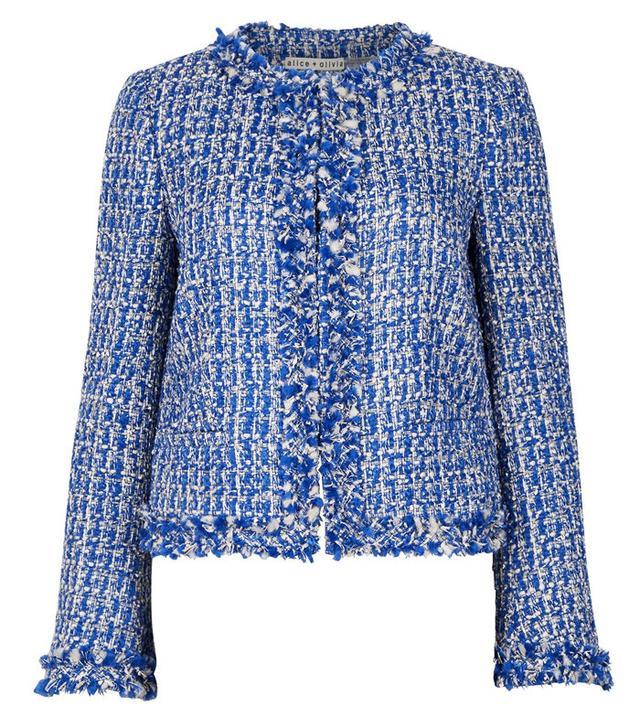 Nila Blue Tweed Jacket