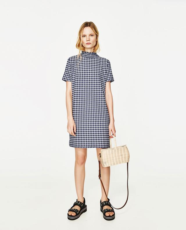 Zara Mini Jacquard Dress