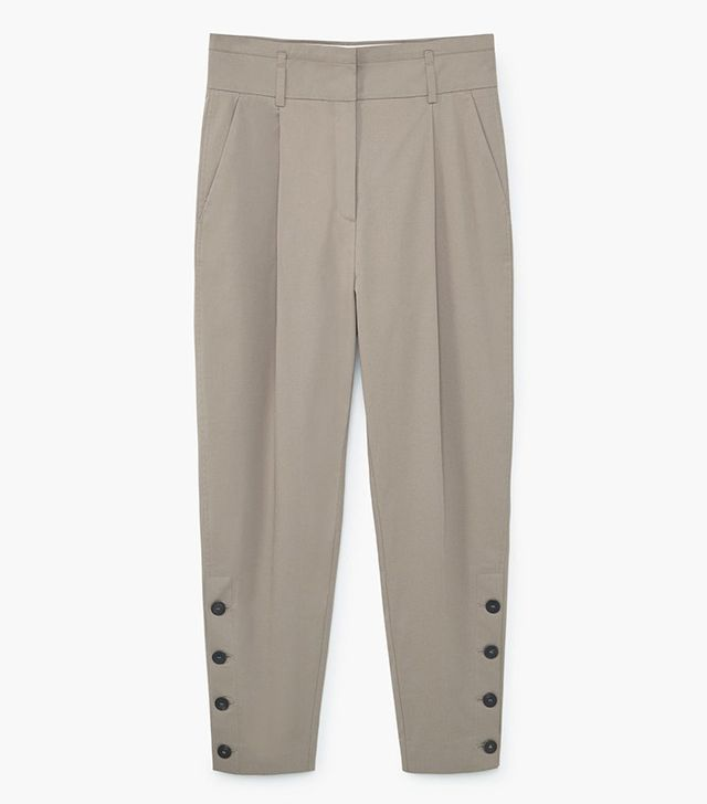 Mango Side Buttons Trousers