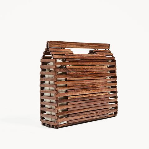 Mini Wood Tote Bag