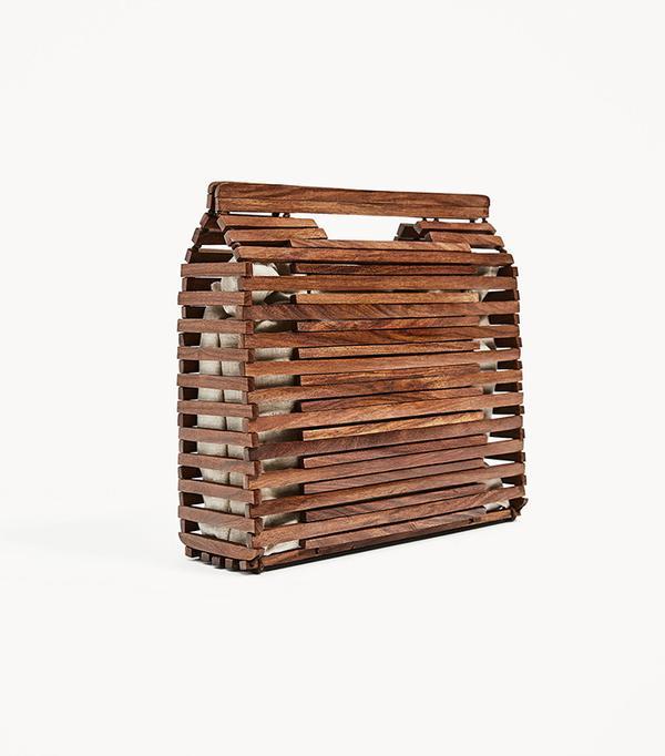 Zara Mini Wood Tote Bag