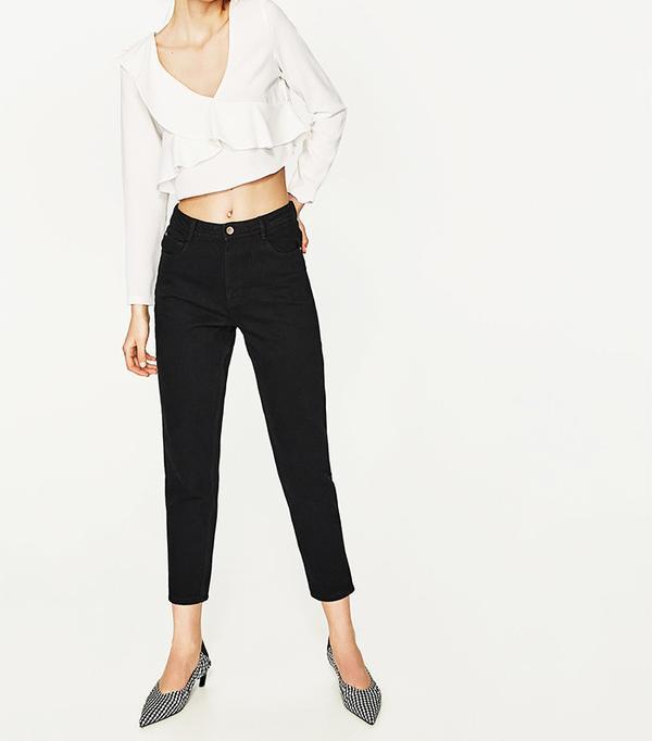 Zara High-Rise Original Mom Fit Jeans