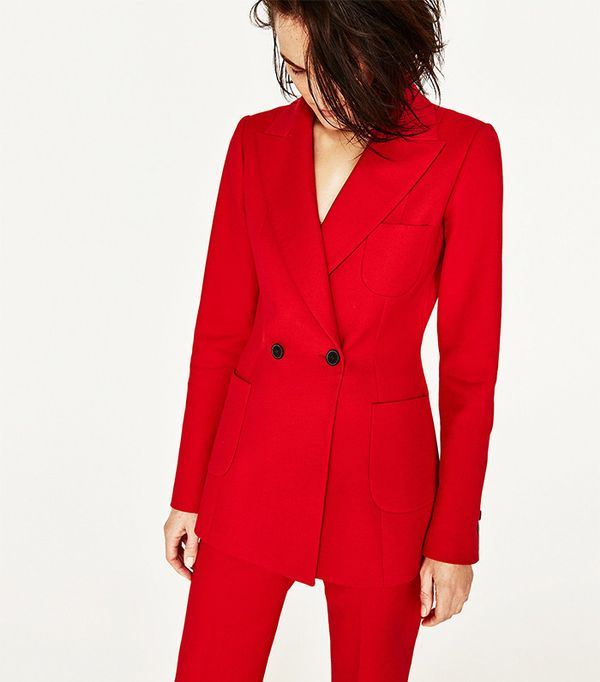 Zara Tailored Jacket With Buttons