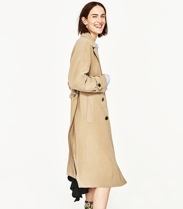 Zara Bell Sleeve Trench Coat