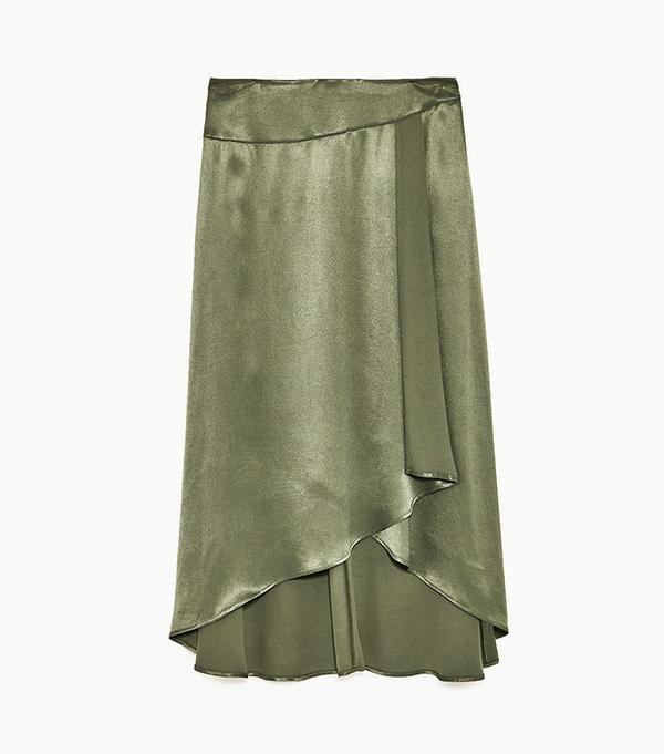 Zara Long Asymmetrical Skirt