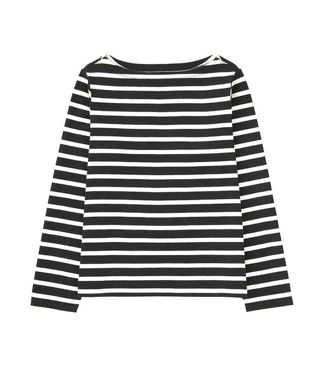 Uniqlo Striped Boat Neck Long Sleeve T-Shirt