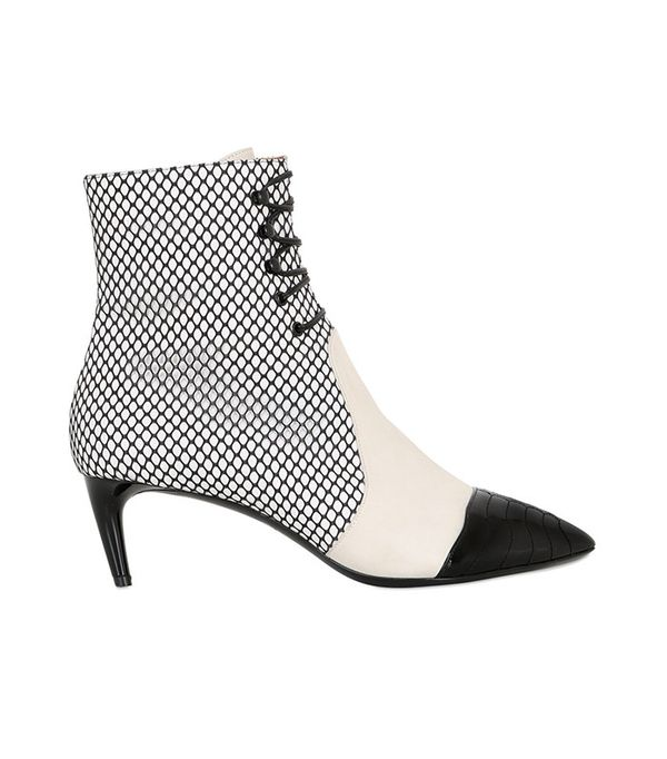 Bally 55mm Macumba Mesh & Leather Ankle Boots