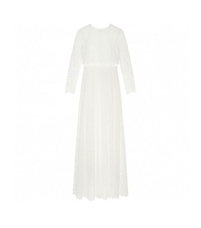 ASOS Curve Bridal Lace Long Sleeve Maxi Dress