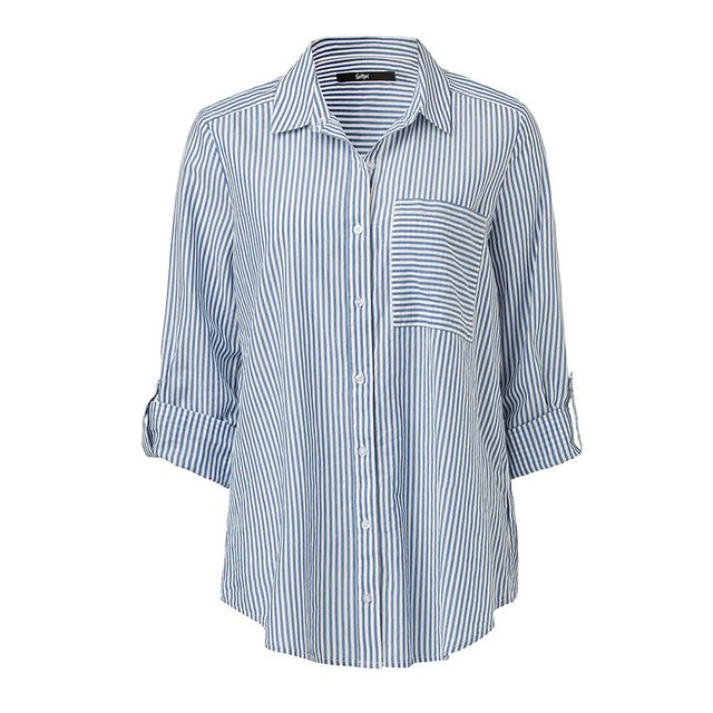 Sportsgirl Stripe Boyfriend Shirt