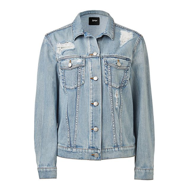Sportsgirl Distressed Denim Trucker