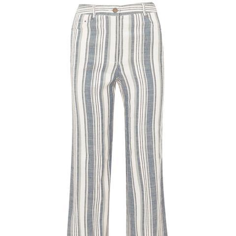 Helm Striped Linen-Blend Pants