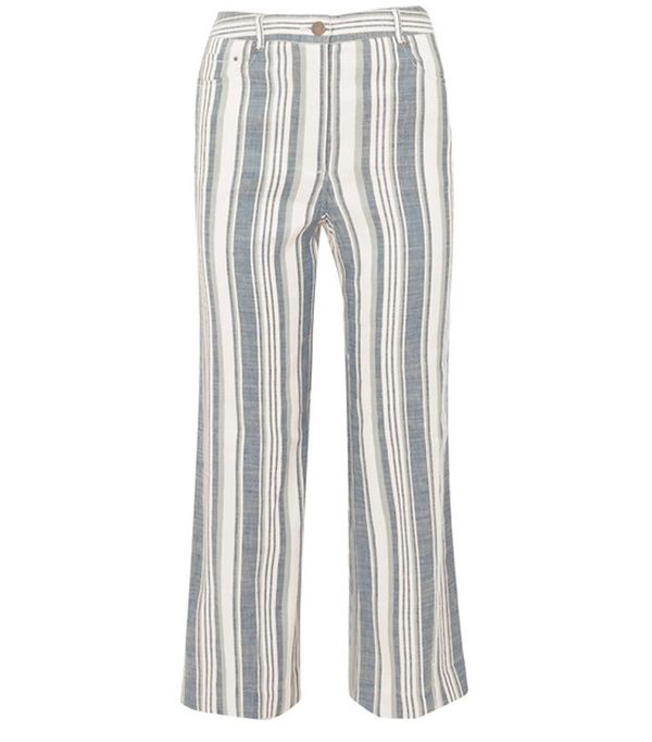 Spring weekend outfit ideas: Mango striped trousers