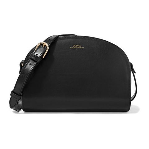 Demi-Lune Leather Shoulder Bag