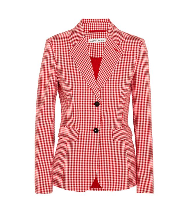 5 Things People Will Always Notice About Your Outfit: Altuzarra Fenice Gingham Cotten-Blend Twill Blazer