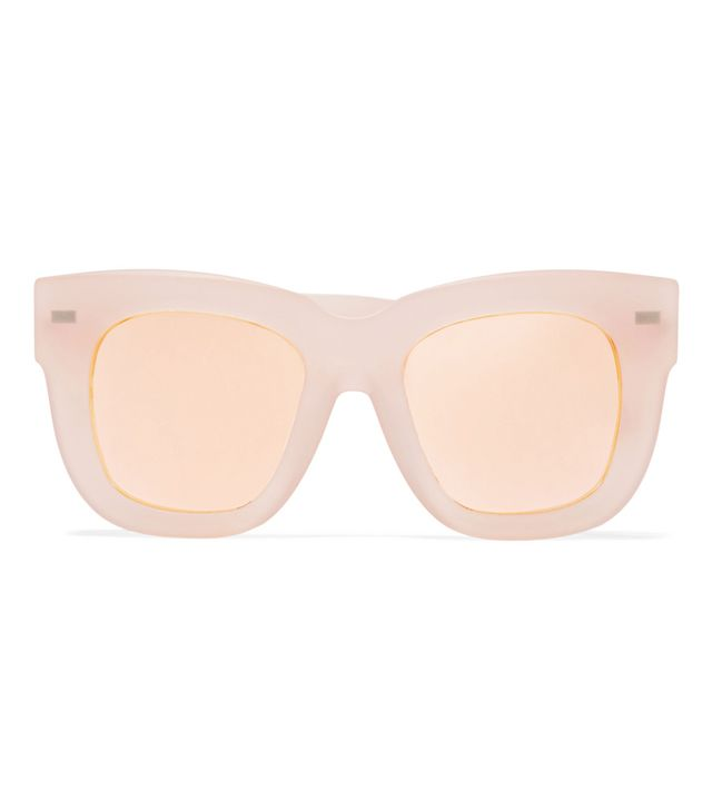 5 Things People Will Always Notice About Your Outfit: Acne Studios Library Square-Frame Matte-Acetate Mirrored Sunglasses