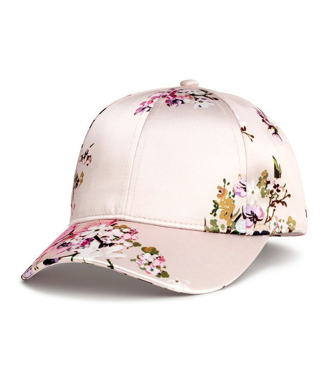 H&M Satin Cap in Powder/Floral