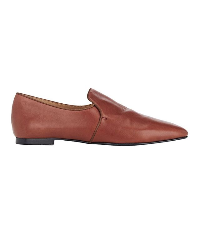 The Row Alys Leather Venetian Loafers