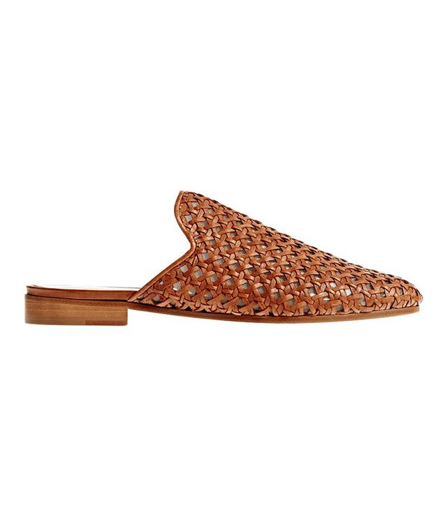 Brother Vellies Woven Slide In Whiskey