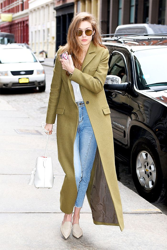 Flats Styles for Spring - Gigi Hadid in Nicholas Kirkwood Pointed Toe Mules