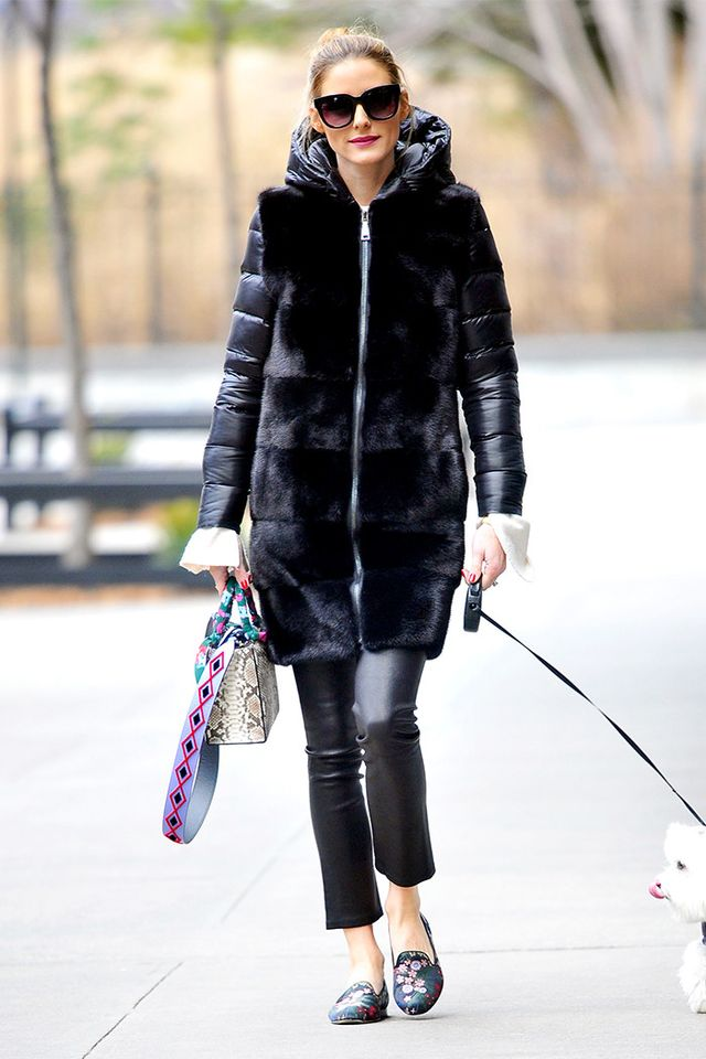 Olivia Palermo in slippers