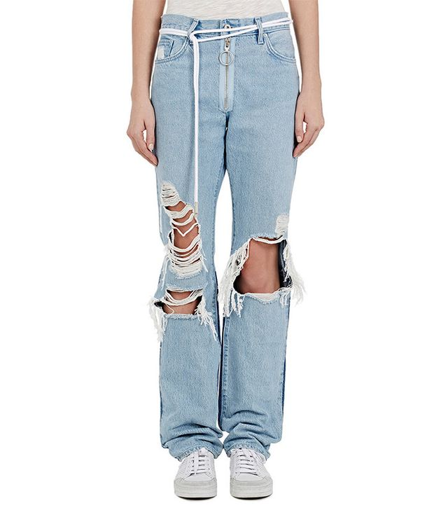 Off-White c/o Virgil Abloh Levi's Distressed Boyfriend Jeans