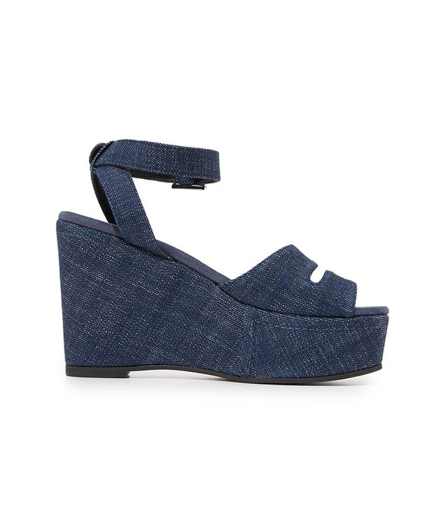denim wedges