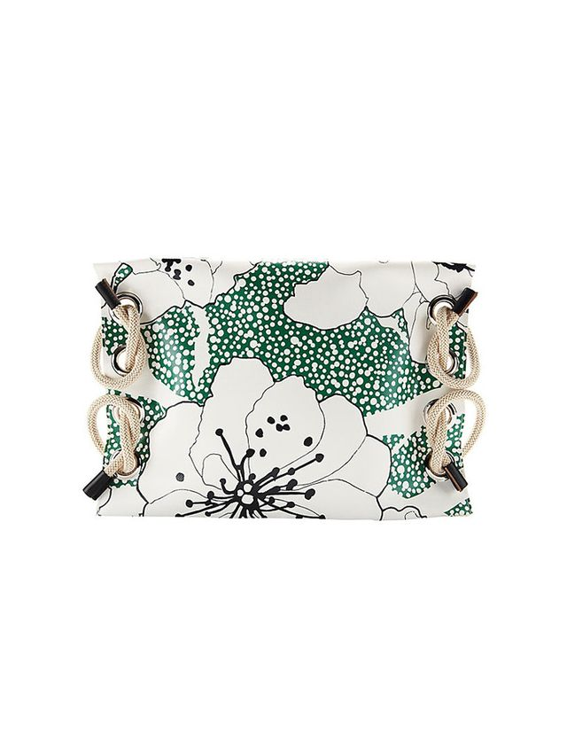 Marni Oversized Rope Detail Floral Clutch