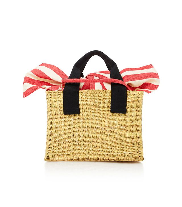 straw top handle mini bag