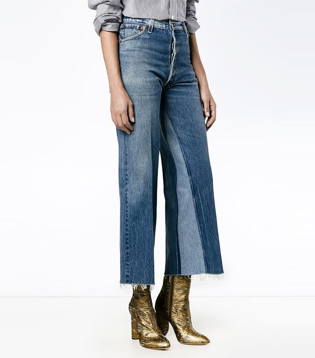 re/done cropped deconstructed jeans